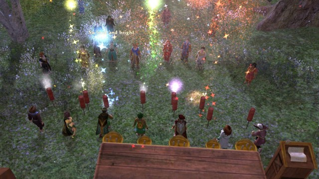 Fireworks at the 4th anniversary party of the Grand Order of the Lost Mathom