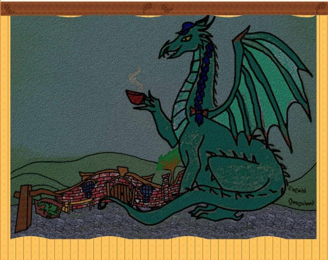 Tea at four a Green Dragon Tapestry