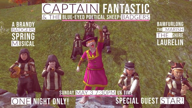 Captain Fantastic and the Blue-eyed Poetical Sheep-badgers @ Bamfurlong
