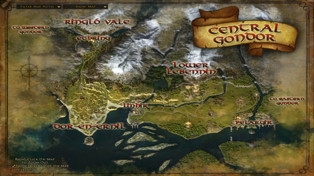 The maps of Central Gondor