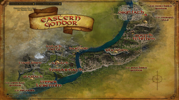 The maps of Eastern Gondor